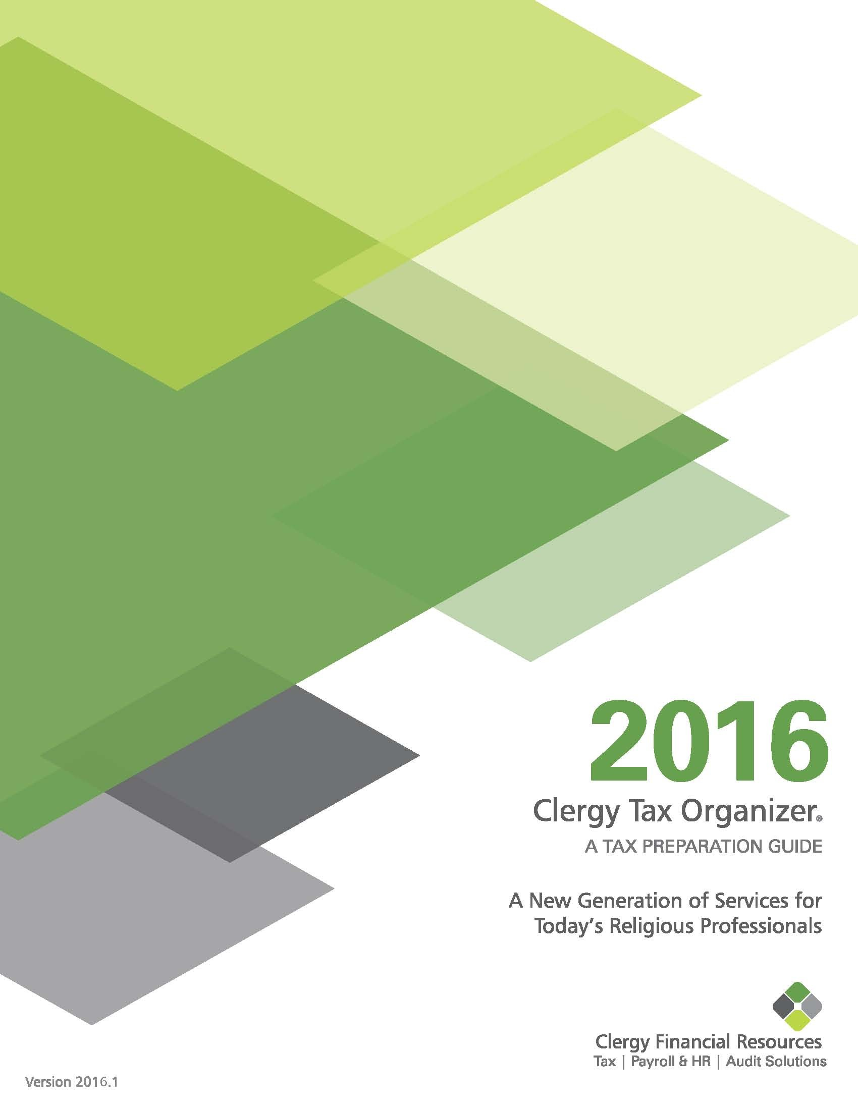 2016 Clergy Tax Organizer - PDF Download